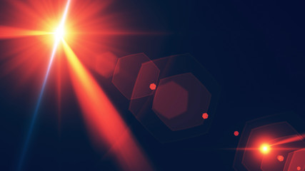 Abstract Lens Flare Background