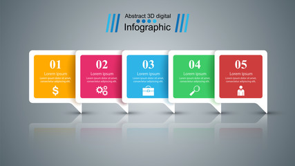Speech bubbles icon. Dialog box info. Abstract infographic