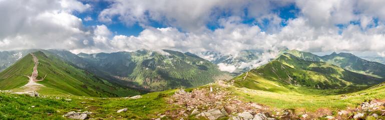 Beautiful panorama of Kasprowy Wierch in Tatras, Poland