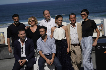 "Nacho Fresneda, Ana Wagener, Josep Maria Pou, Barbara Lennie, Luis Zahera, Antonio de la Torre and Rodrigo Sorogoyen take part in a photo call to promote the feature film ""The Realm"" at the San Sebastian Film Festival"