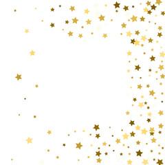 frame gold stars on a white background