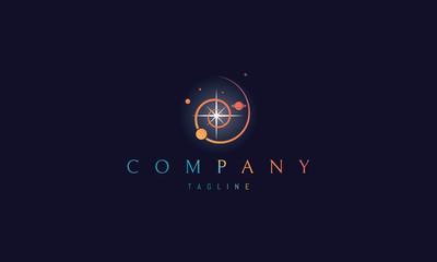 Universe Star vector logo image