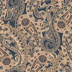 Paisley Damask ornament. Seamless vector pattern