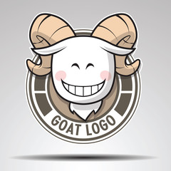 Head of goat on Circle., LOGO Design