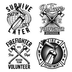 Vintage labels set with lettering composition on white background. T-shirt logo design.