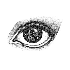Dotwork Eye with Space