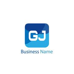 Initial Letter GJ Logo Template Design