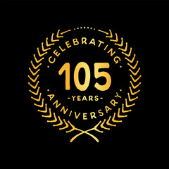 105 years design template. 85th vector and illustration.