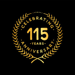 115 years design template. 85th vector and illustration.