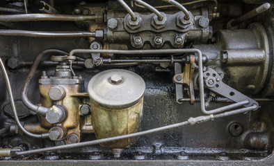 Einspritzpumpe eines Traktors
