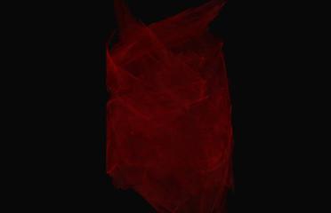 Red fractal texture on black background.Fantasy fractal texture. Digital art. 3D rendering. Computer generated image.