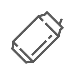 Aluminum Can Vector Line Icon