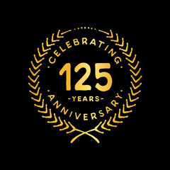 125 years design template. 85th vector and illustration.