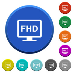 Full HD display beveled buttons