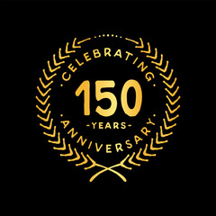 150 years design template. 85th vector and illustration.
