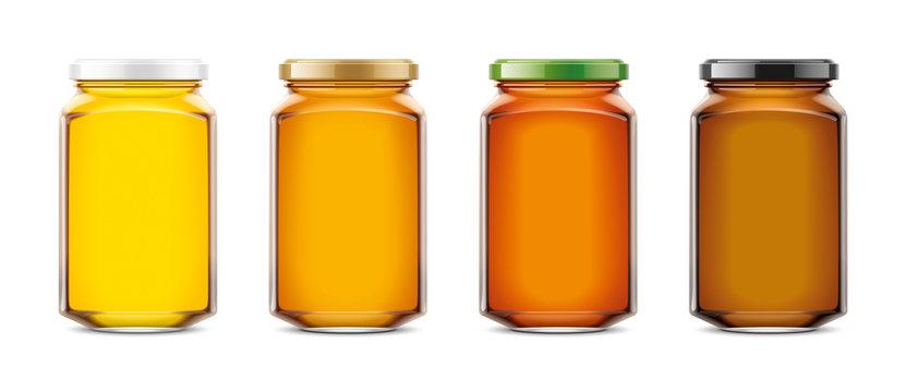 Clear Honey Jar mockup. Big size