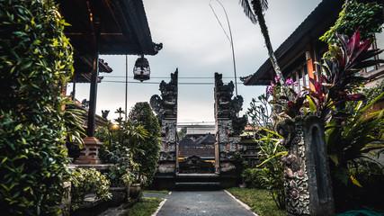 Beautiful traditional Balinese gate