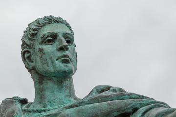 Statue von Konstantin vor dem Münster in York, Großbritannien