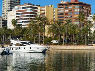 Promenade Explanada the main and famous tourist street Alicante Spain