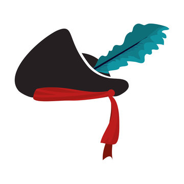 hat pirate accessory with feather style