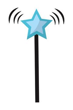 star magic wand stick style