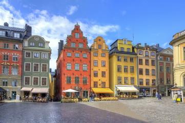 Stortorget square in Stockholm center, Sweden