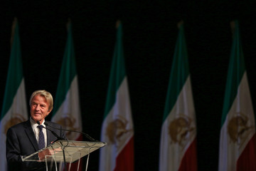 Bernard Kouchner, former Foreign Minister of France, is seen during the 2018 Iran Uprising Summit in New York