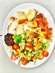 Colourful Quiche Lorraine salad
