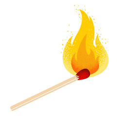 match with fire