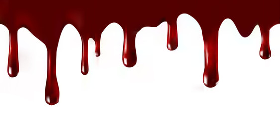 Dripping blood .