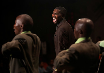 A group performs at the theatre during the annual Isicathamiya Competition held in Durban