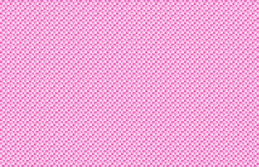 Pink White Woven Basketweave Abstract Background. Repeated braiding of horizontal and vertical stripes creates a basket weave pattern in pink and white, woven with strands of various widths.