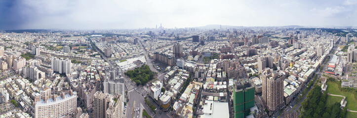 Aerial view of kaohsiung city . Taiwan.