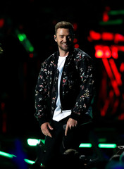 Justin Timberlake performs during the iHeartRadio Music Festival at T-Mobile Arena in Las Vegas