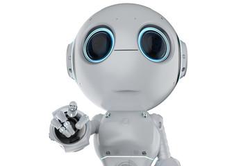 mini robot finger point