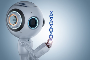robot with dna helix