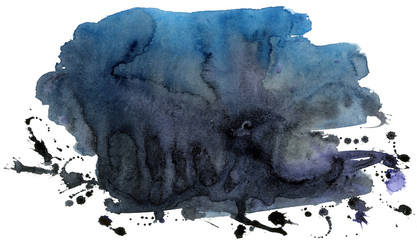 Coloured black watercolor background for decoration