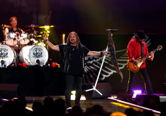 Lynyrd Skynyrd performs during the iHeartRadio Music Festival at T-Mobile Arena in Las Vegas