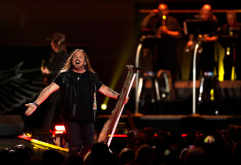 Lynyrd Skynyrd lead vocalist Johnny Van Zant performs during the iHeartRadio Music Festival at T-Mobile Arena in Las Vegas