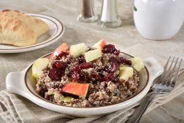 Cranberry, apple and quinoa salad