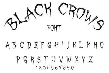 black crow halloween font