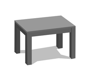 Vector 3d table for object presentation. Empty black top table on isolated background. illustration.