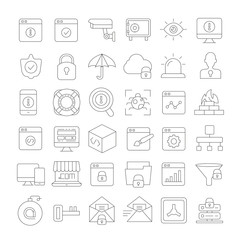 internet security and web development icons