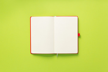 notepad or notebook at abstract background