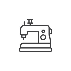 Sewing machine outline icon. linear style sign for mobile concept and web design. Electric sewing machine simple line vector icon. Symbol, logo illustration. Pixel perfect vector graphics