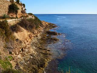 Famous promenade of Cabo Roig. Costa Blanca. Spain