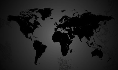 world map in gray tones