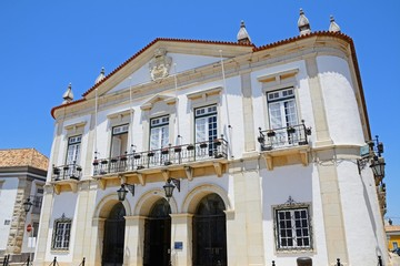 Front view of the Town Hall in the Praca Largo de Se in the city centre, Faro, Algarve, Portugal.