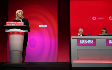 Britain's General Secretary of the Labour Party Jennie Formby speaks at the annual Labour Party Conference in Liverpool