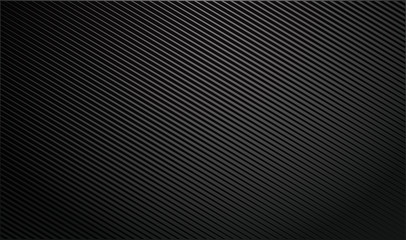 Gradient dark background with diagonal stripes. Lighting beam. Vector Illustration.